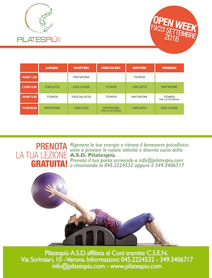 Pilates Più Open Week Settembre 2016